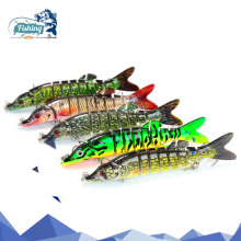 Купить с кэшбэком 1pcs Fishing Lures Swimbait 9cm 7g 5 Colors 9 segemants Crankbait Fishing Wobbler Isca Artificial Fishing Wobbler Hard Baits
