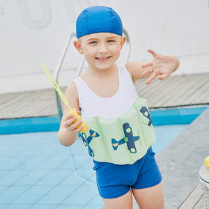 d16a06472378a SABOLAY Elastic Children's Swimwear Boys One-Piece Suits Summer Buoyant  Vest Floating Swimming Suit Kids Beach Surfing Swimwear