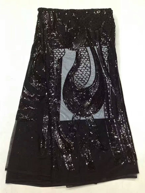 ᗖAN08 ! new arrival African tulle lace with sequins 0c5924c10bff