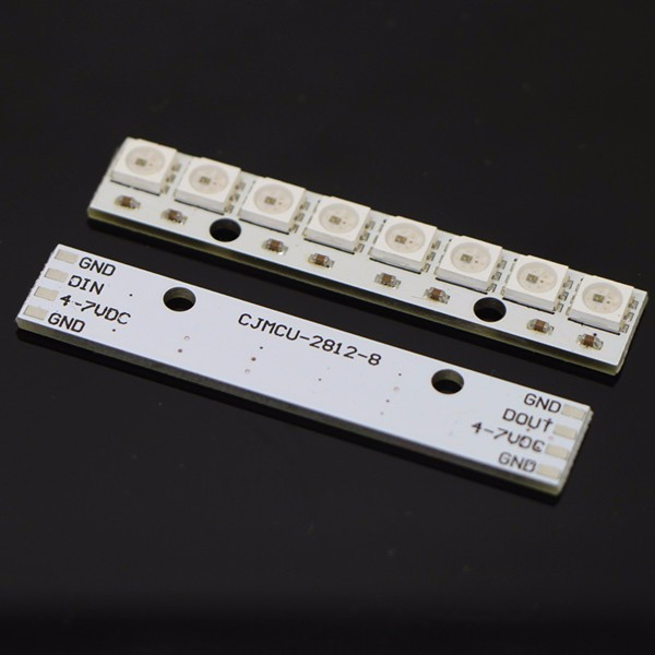 New Arrival 8 x WS2812B 5050 RGB Driving LED Lights Board Strip Built-in Full-Color For NAZE32 CC3D