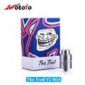 100% Original Wotofo El Troll RDA Atomzier V2 Tanque ajustable Reversa 510 pines Cigarrillo Electrónico VS wotofo serpiente mini (MM)