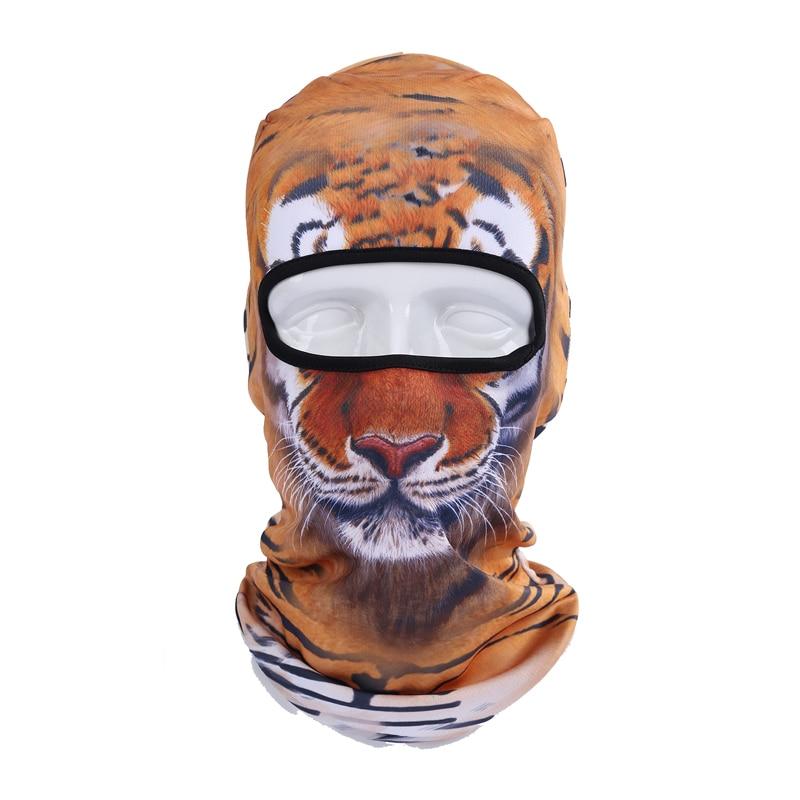 2017 Cute Unisex Outdoor Sports Cap 3d Animal Masks Tiger Motorcycle Mask Hood Hat Veil Ski Snowboard Balaclava Cosplay Beanies