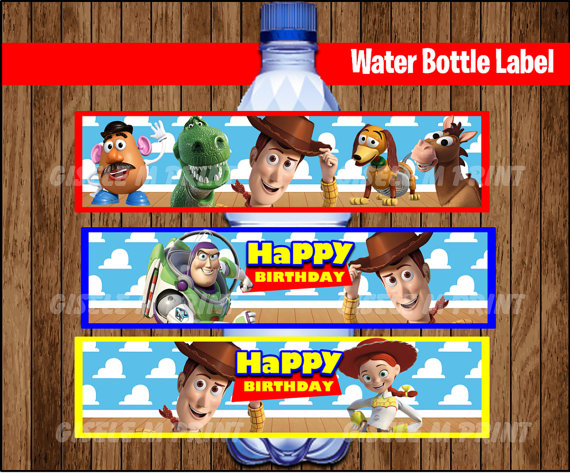 Toy Story Clipart Bottle Water Labels Toy Story Party