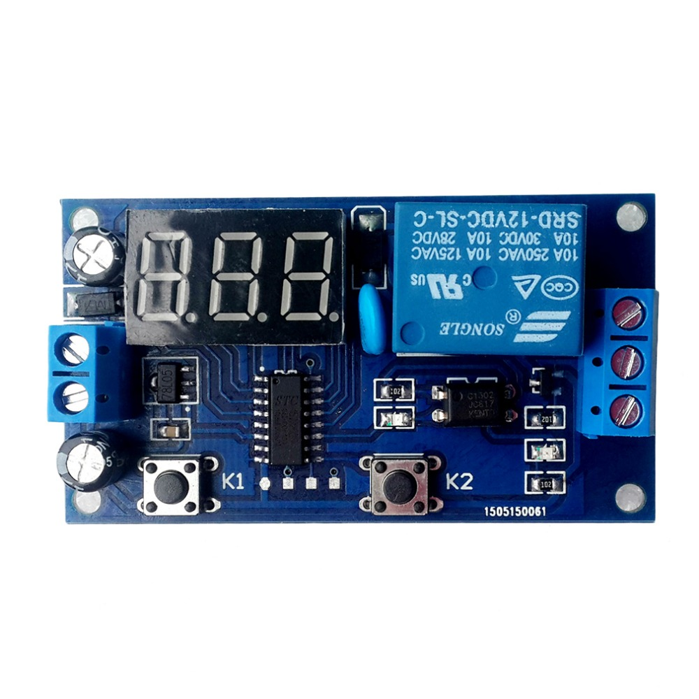 Electrical DC 12V Time Relay Module Digital Display Trigger Cycle Time Delay Relay Module Board YYA-3 led digital display circle delay time relay module time adjustable blue 12v