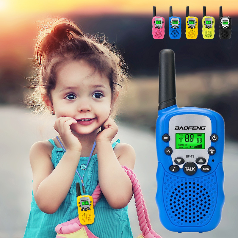Baofeng Portable Walkie Talkie BF-T3 22 Channels Mini Two-way Radio Transceiver 10 Call Tones BF T3 Kids Radio UHF 462-467mHz
