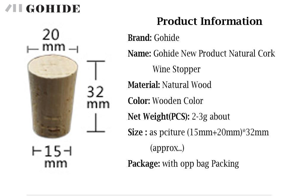 GUHD 10gab / partija Dabīgā koka korķa vīna aizbāžņa pudeles - Virtuve, ēdināšana un bārs - Foto 6