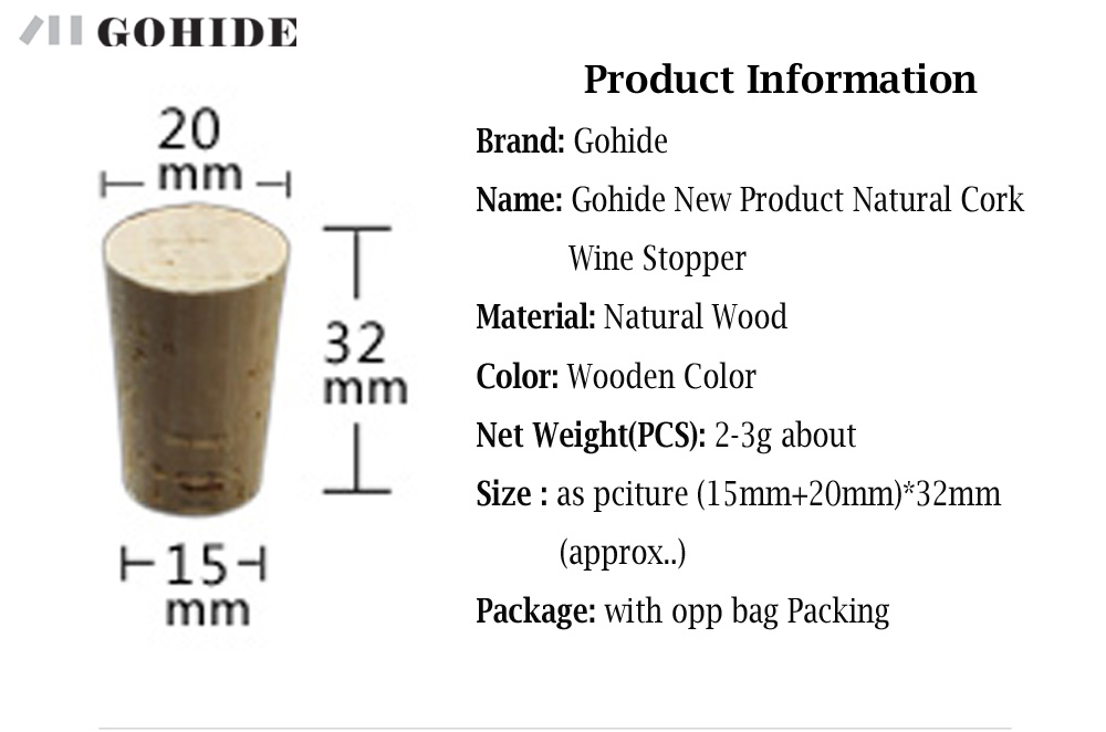 GUHD 10pcs/lot Natural Wood Cork Wine Stopper Bottle Beer Bottle - Kitchen, Dining and Bar - Photo 6