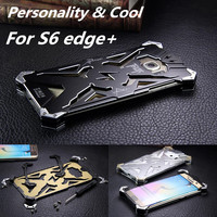 Dropproof Cover telefoon case Voor Samsung Galaxy S6 Rand + Plus G928f G9280 Aluminium Front Back Skin shockproof Shell vogue fundas