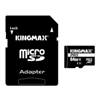 KingMax Micro SD Card Memory Card 64GB Class 10 Memory Card UHS1 Ultra High Speed Real