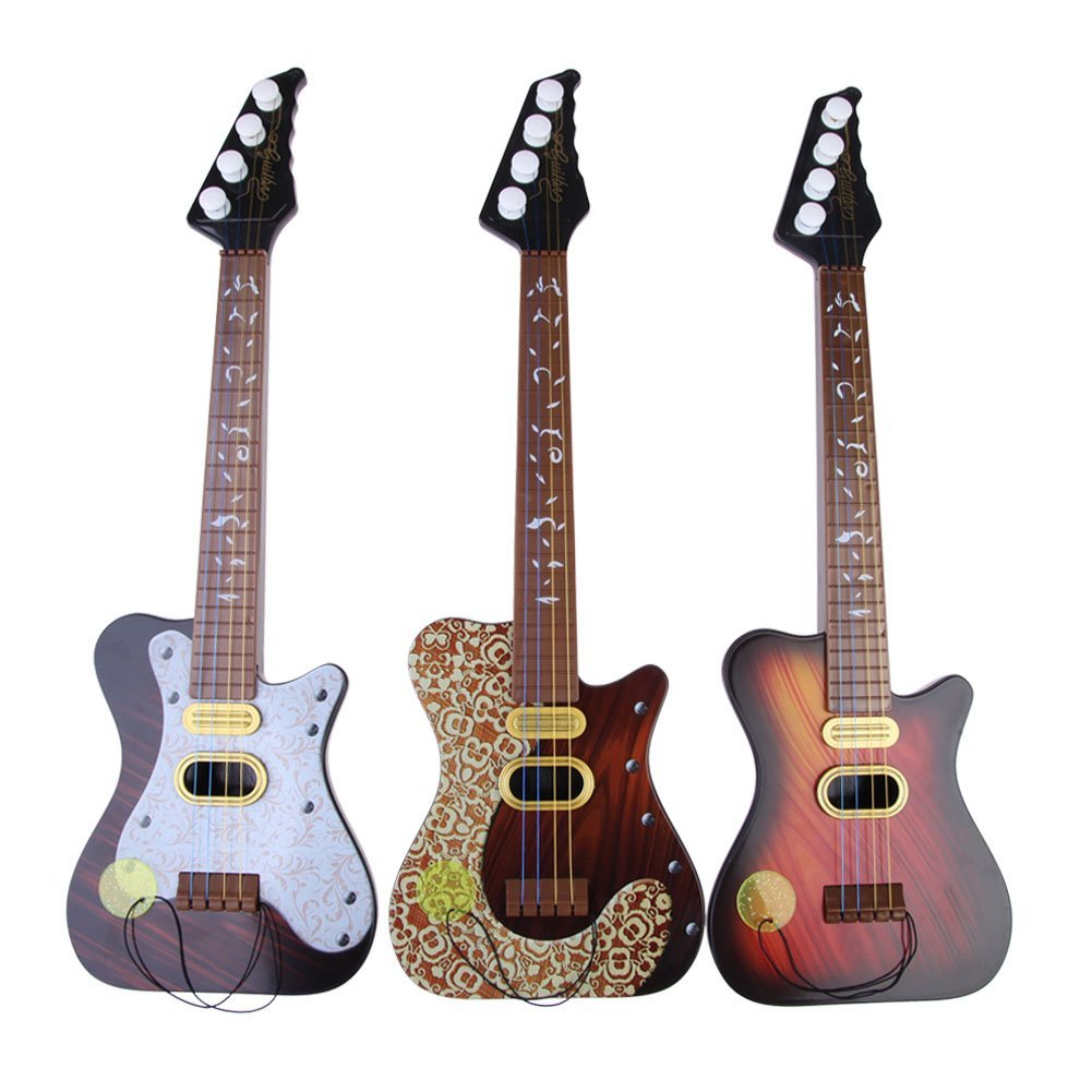 Children 4 String Guitar Simulation Early Childhood Educational Toys Series Color random