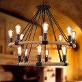 Loft style simple retro pendant lamp Bar Cafe Tieyi Lighting Iron Chandelier pendant lamp rope pendant lights