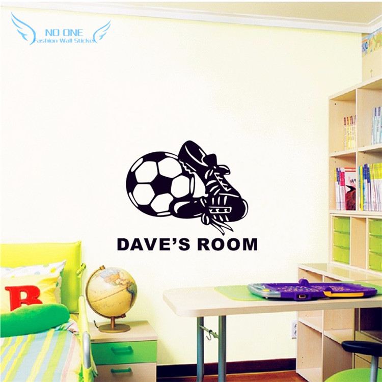 Aliexpress.com : Buy Personalized Naming Vinyl Wall Stickers Football And  Sneakers Decals Boys Bedroom Wall Art Decor DIY Home Decoration Popular  From ... Part 18
