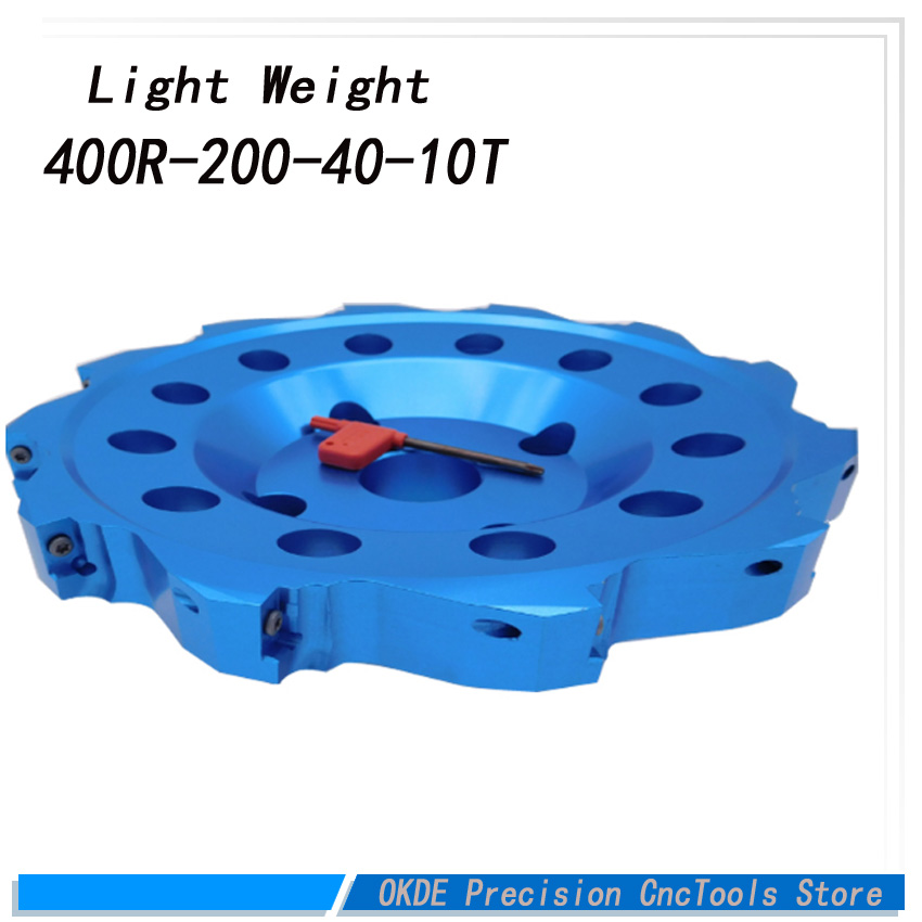 Light weight BAP400R Aluminium face mill  200-40-10T  200mm large surface milling cutter BAP 90 degreeLight weight BAP400R Aluminium face mill  200-40-10T  200mm large surface milling cutter BAP 90 degree