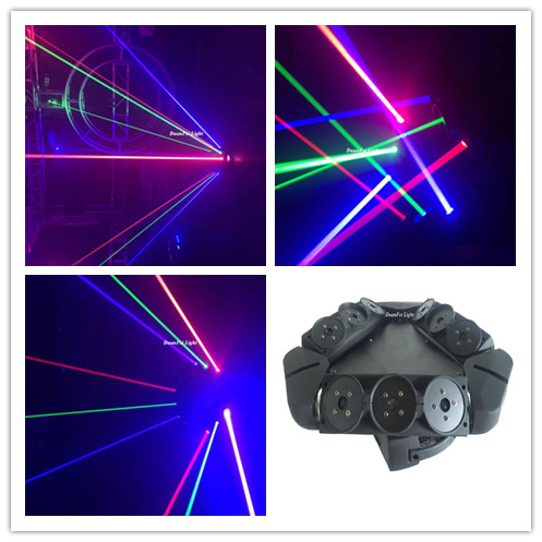 dunfly duanfei light 4pcs lot triangle spider moving head light