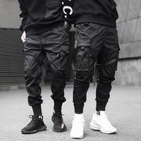 Men's trousers brand black street dance pants clothing casual overalls Harajuku sports pants hip hop pants 2019 new hot sale