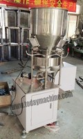 Semi Auto Granule Filling Machine With Measuring Cups For Bottle Bag Pouch