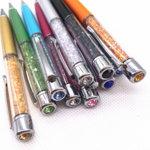60pcs personalized Fashion wedding crystal wedding pens with diamonds 10colors with your names and wedding date printed FREE personalized with wedding date bride and bridegroom names wedding favors diamond ballpoint pens crystal capacitive pen