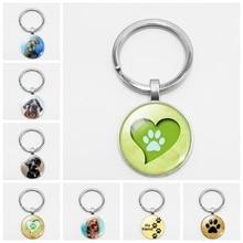 цены на Fashion Pet Dog Footprints Fighting Dog Key Chain Car Key Hang Buckle Accessories Welcome To Map Custom  в интернет-магазинах