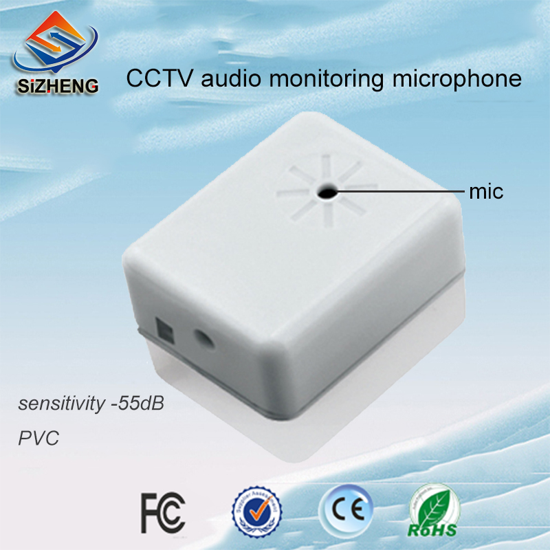 SIZHENG SIZ-105 PVC mini surveillance camera sound monitor cctv audio microphone sensitivity -55dBSIZHENG SIZ-105 PVC mini surveillance camera sound monitor cctv audio microphone sensitivity -55dB