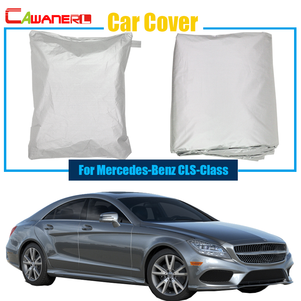 Cawanerl Car Cover Anti UV Rain Snow Sun Resistant Sun Shield Cover Car Cover For Mercedes