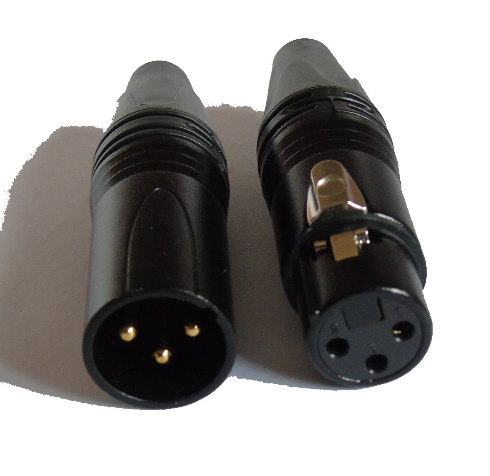 Hight quality copy 60PCS LOT NC3FXX B NC3MXX B Male Female 3 Pin XLR Connector with