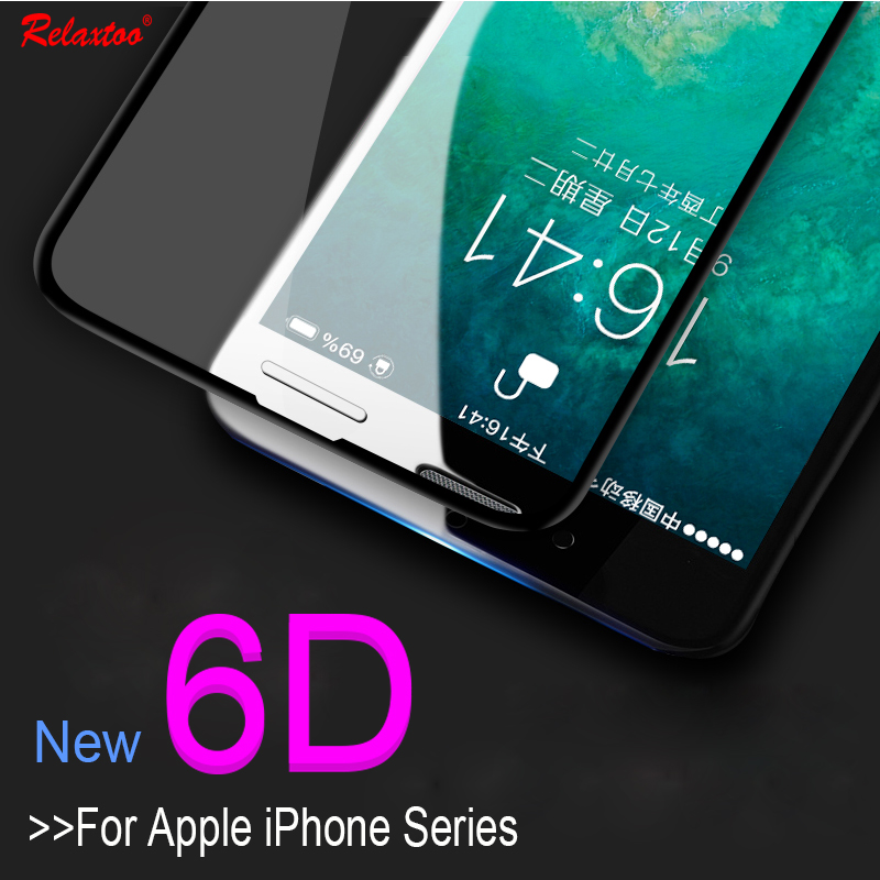 6D Curved For Apple iPhone 7 Case Tempered Glass For iphone X 6 6s 7 8 Plus I6 I7 I8 Screen For iphone 7plus 8plus Glass Film
