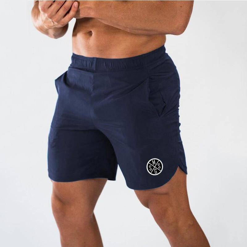Muscleguys Men's Slim Fit Short Trousers Fitness Bodybuilding Joggers Men Shorts Sweatpants Fitness Workout Dry Quick Shorts
