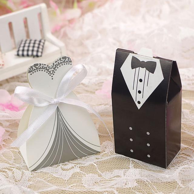 100pcslot Elegant Candy Box For Wedding Sweet Bag Wedding Favors