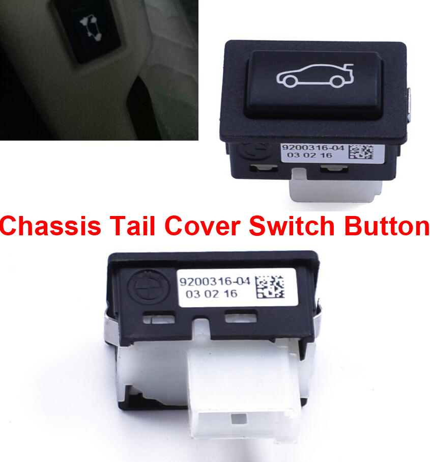Car Styling Plastic Chassis Tail Cover Switch Button Fit For BMW 5 series 10 2017 520 525 528 530 7 series 09 2016 730 735 740 in Car Switches Relays from Automobiles Motorcycles