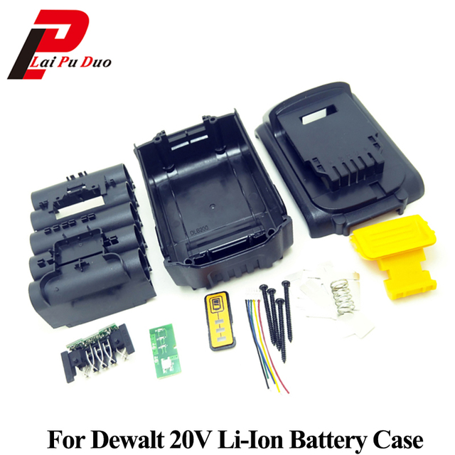 Per Dewalt 18 V 20 V Custodia In Plastica Della Batteria Li Ion 3.0Ah 4.0Ah DCB200 DCB201, DCB203, DCB204 Li Ion Batteria di Copertura di Ricambio