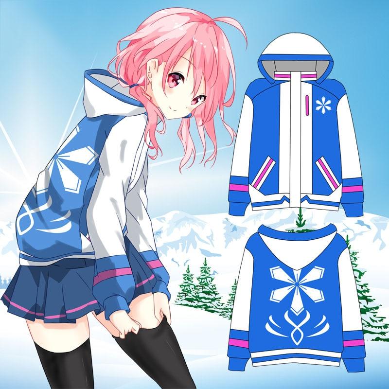 Amine Miku Winter Coat Cosplay Costume Hoodie Jacket Unisex Top