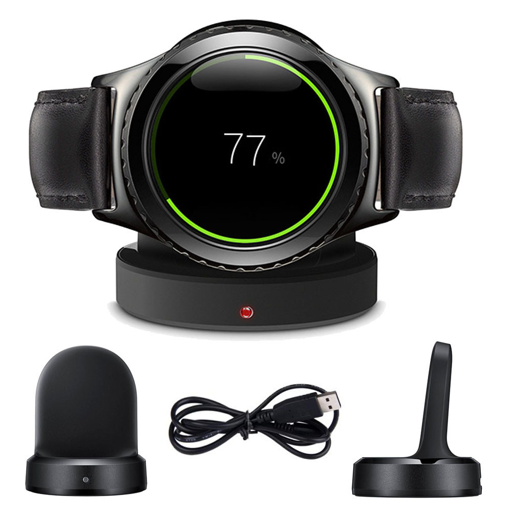 Qi Wireless Charger for Samsung Gear S2 Classic SM-720 730 732 Wireless Charger Stand Holder Dock Cradle Portable Holder