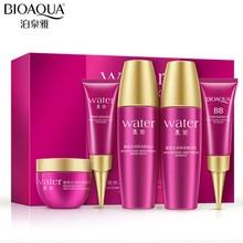 BIOAOUA 5pc/set Facial Skin Care Travel Set Mexico Plant Ess