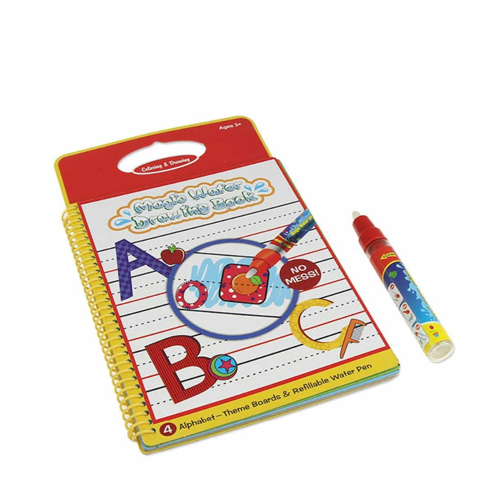 Learning Drawing Toys Funny Water Drawing Book Coloring Magic Pen Painting Board No Ink Book Doodle Children Kid Baby Education