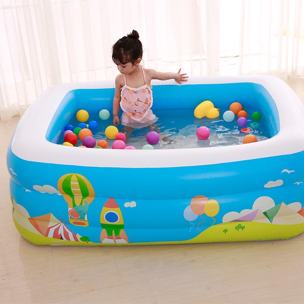 Piscine gonflable de haute qualité pour enfants à usage domestique Sports nautiques famille pataugeoire gonflable grande taille piscine carrée
