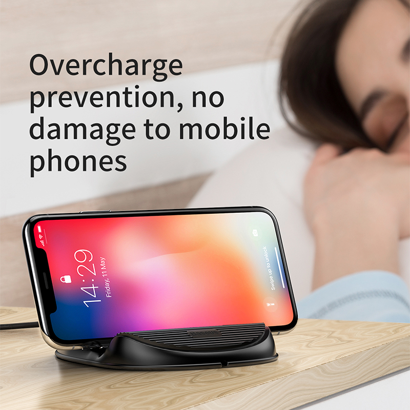 Wireless Charger 10W - QC 3.0 Fast Charging Desktop Stand with Heat Dispension Fan 5