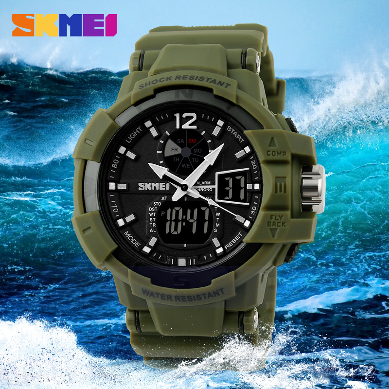 SKMEI Men Sports Watches Fashion Casual Watch Outdoor LED Digital Quartz Multifunction Waterproof Men's Military Wristwatches skmei outdoor sports watches men quartz digital waterproof military watch fashion casual multifunction student men wristwatches