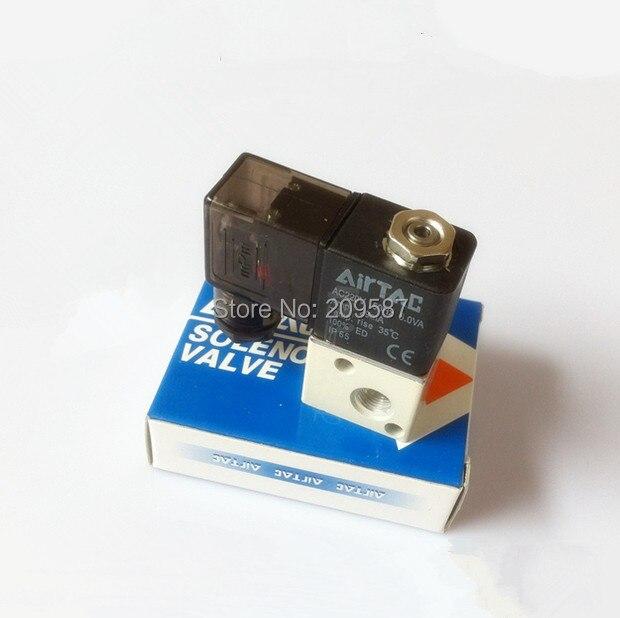 Sanitär 3v1-06 12 V/24 V 110 V/220vac 3 Port 2pos 1/8 bsp Normalerweise Geschlossen Magnetluftventil Coil Led