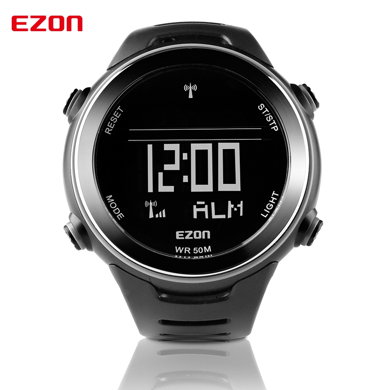 EZON Multi-functional Sport Watch Men Watches Top Brand Outdoor Running Sport Watches for Men 5ATM Waterproof Male Wristwatch ezon outdoor sports for smart gps watches running male multifunctional 5atm waterproof electronic watch g1 black