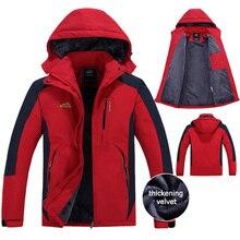 4XL 5XL Thicken Warm Parka Velvet/Fleece Winter Jacket Men Hooded Windproof Waterproof Brand Overcoats Windbreaker Men CF00302