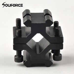 Adjustable Universal Double Rail 20mm Picatinny/weaver Rail Barrel Mount Adapter for Scope Rifle Flashlight Shotgun Converter