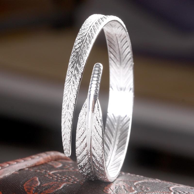 925 Sterling Silver Leaf...