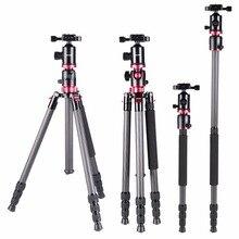 72.24″Carbon Fiber Travel Portable Tripod For  Camera Tripod Monopod with Ball Head For Digital/Video Canon Nikon Sony Camera