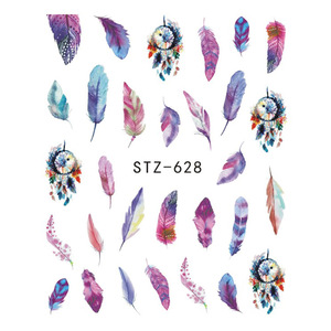 Image 4 - 1pcs Water Decals Nail Art Sticker Dream Catcher Feather Watermark Adhesive Sliders Tips Wraps Decoration Manicure BESTZ628 644
