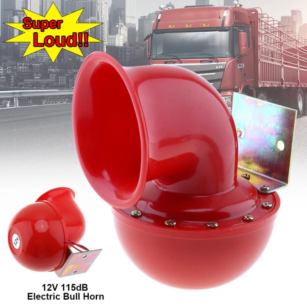 12V 115dB Red Loud Electric Raging Bull Air Horn for Auto Car Truck Motorcycle vodool 12v 125db car motorcycle truck horn compact electric pump air loud horn high quality for motorcycle car truck