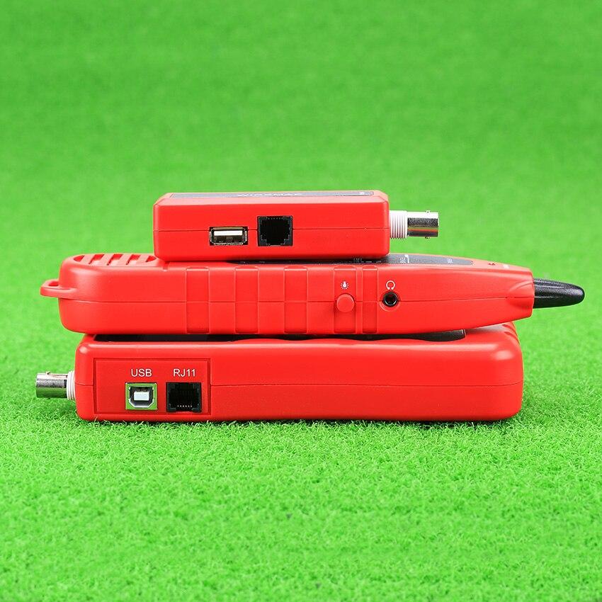 KELUSHI NF-868 testeur réseau LAN téléphone Tracker fil USB testeur de câble Coaxial (portée 1200 m)-rouge - 2