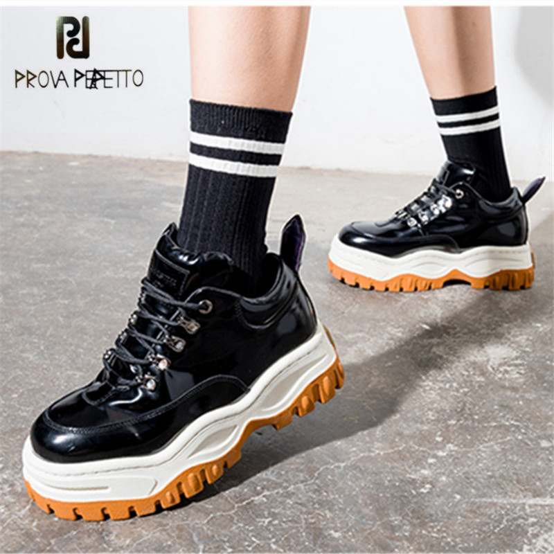 Prova Perfetto Patent Leather Women Sneakers Platform Shoes Woman Creepers Female Casual Flats Espadrilles Zapatos MujerProva Perfetto Patent Leather Women Sneakers Platform Shoes Woman Creepers Female Casual Flats Espadrilles Zapatos Mujer