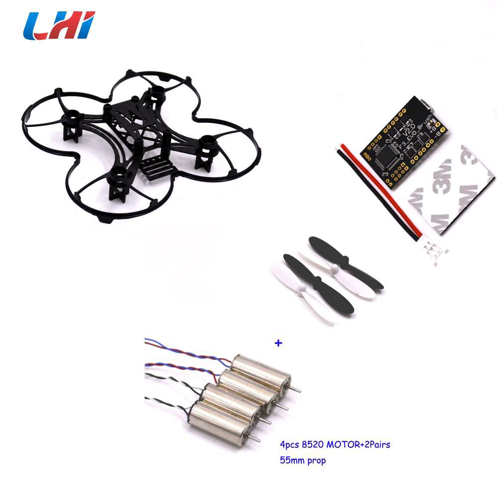 ФОТО Carbon Fiber DIY Frame Kit &F3 Flight Controller Board  8520 motor  RC plane 90mm Micro FPV Racing Quadcopter Spare Parts