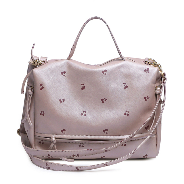 new arrival fashion fruit printing women bag  PU leather women Top-handle bag larger women messenger bag
