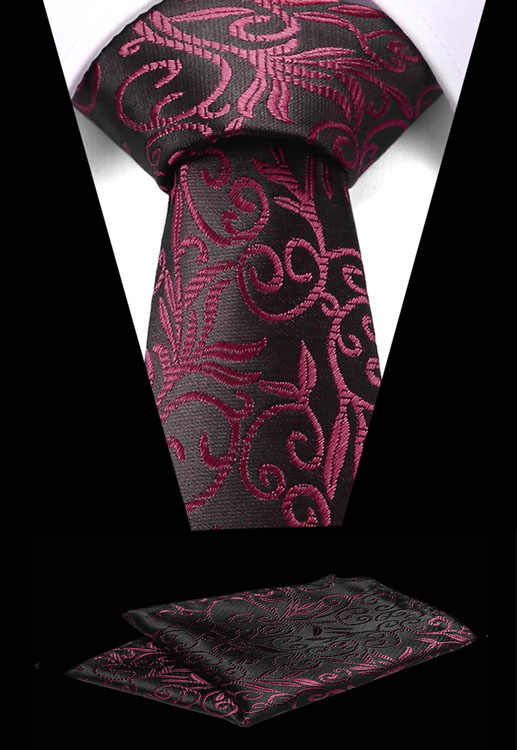 新しい Flroal フォーマルネクタイ防水ネクタイポケットスクエアセットビジネス結婚式のクラシック男性のシルクネクタイ 7.5 センチメートル Corbatas ファッション